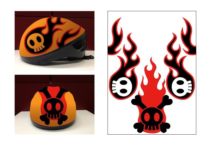 子供用ヘルメットのイラストデザイン