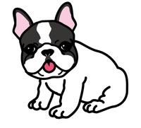 犬服にプリントするフレンチブルドッグのイラストの募集へのエシゴト